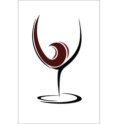 Glass of wine design vector image vector image