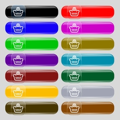 shopping cart icon sign Set from fourteen vector image vector image