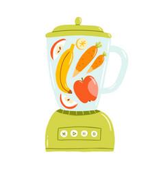 smoothie mixer vector image vector image