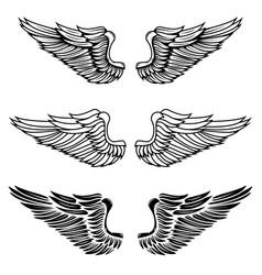Vintage wings vector