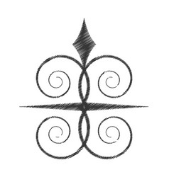 drawing swirl decorate ornate style vector image vector image