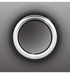 Gray button vector image vector image