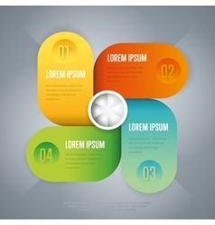 Infographics business concept of strage template vector image