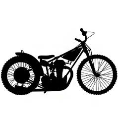 speedway motorbike silhouette vector image vector image