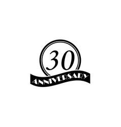 30 anniversary sign element of anniversary sign vector image