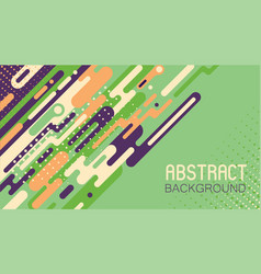 Abstract background with colorful rounded shapes vector