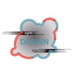 abstract logo design template creative wavy vector image