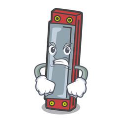 Angry harmonica mascot cartoon style vector