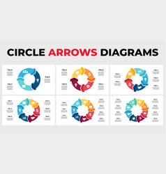 Arrows infographic circle chart diagrams vector