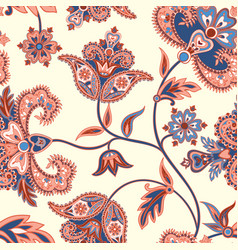 Asian seamless pattern floral background vector