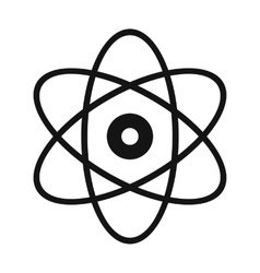 Atom modern simple icon vector image