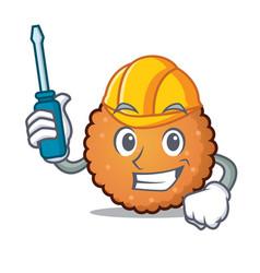 automotive cookies mascot cartoon style vector image