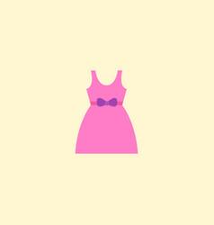 Baby dress icon flat element vector