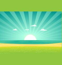 beach beyond fields vector image