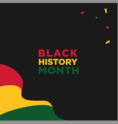 Black history month design for banner or vector
