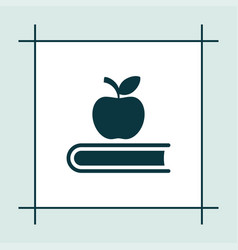 Book icon education apple sign vector