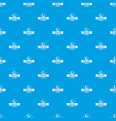 bowling pattern seamless blue vector image
