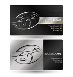 business card for the car company vector image