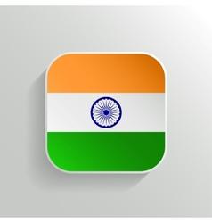 Button - india flag icon vector
