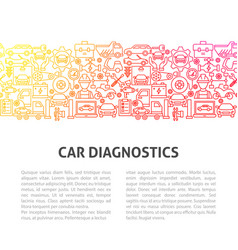car diagnostics line template vector image
