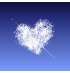 Cloud in the form of a heart vector image
