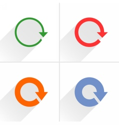 Color arrow rotation reset repeat icon on white vector