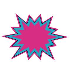 Comic bubble icon vector