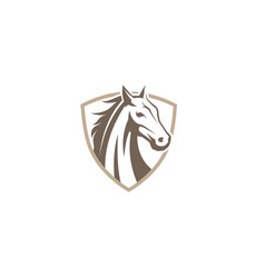 creative horse shield logo design symbol vector image