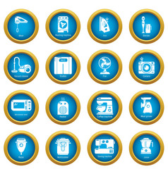 domestic appliances icons set simple style vector image