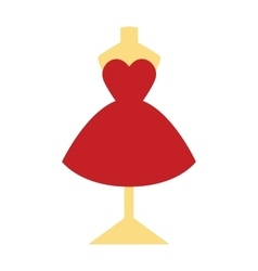 Elegant pretty cocktail evening little red dress vector image