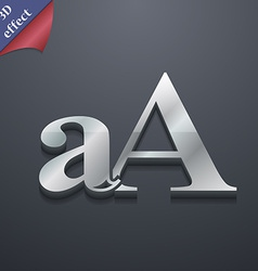 Enlarge font aA icon symbol 3D style Trendy modern vector