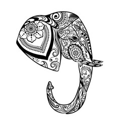 entangle art elephant from side vector image