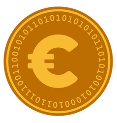 euro digital coin vector image