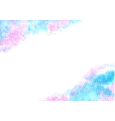 Fairy tale cloud sky watercolor hand painting vector