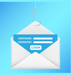 Fishing hook phishing email username password vector