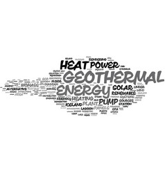 geothermal word cloud concept vector image