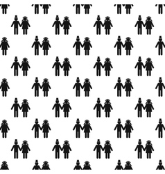 Girl and boy pattern seamless vector image