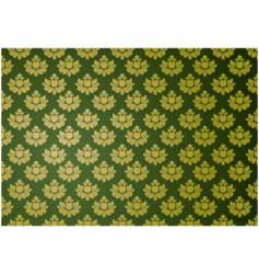 Gold and green glamour pattern vector