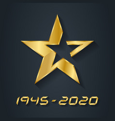 Gold star for victory day anniversary the vector