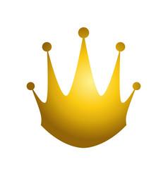golden king crown vector image