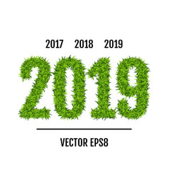 green grass 2019 vector image