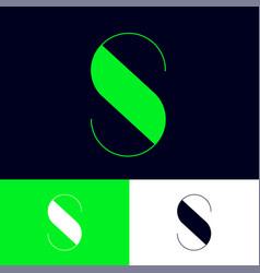green s letter logo monogram vector image