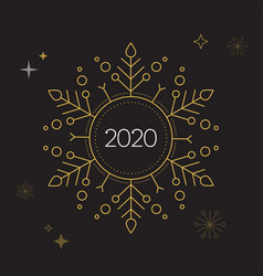 happy new year merry christmas background with vector image