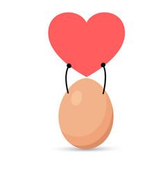 I liked the egg on white background vector