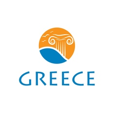 Icon greece vector