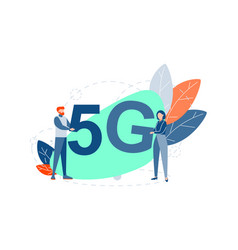 innovative 5g technology concept vector image