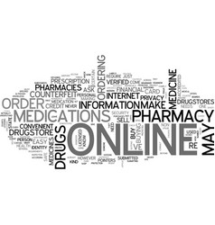 is it safe to order medicine online text vector image