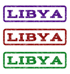 Libya watermark stamp vector
