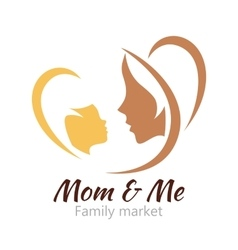 Logo mother and her baby Healthcare or baby shop vector image