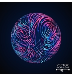 Luxury Sphere With Swirled Stripes Glowing vector
